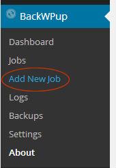 BackWPupプラグインAdd New job