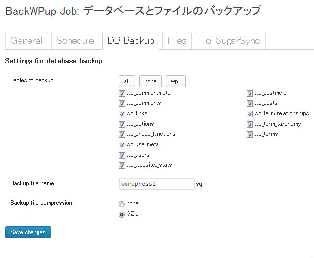 backWPup-DB Backup